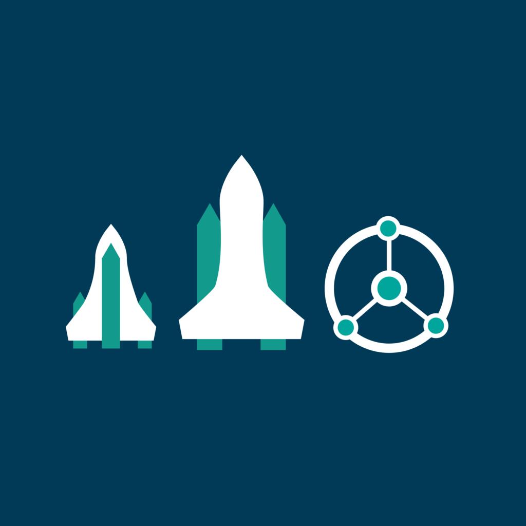 three types of spaceships