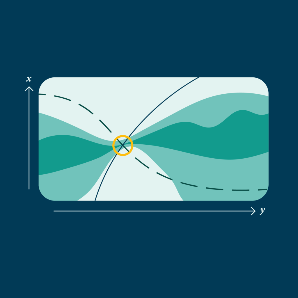 viewscreen with wavy lines