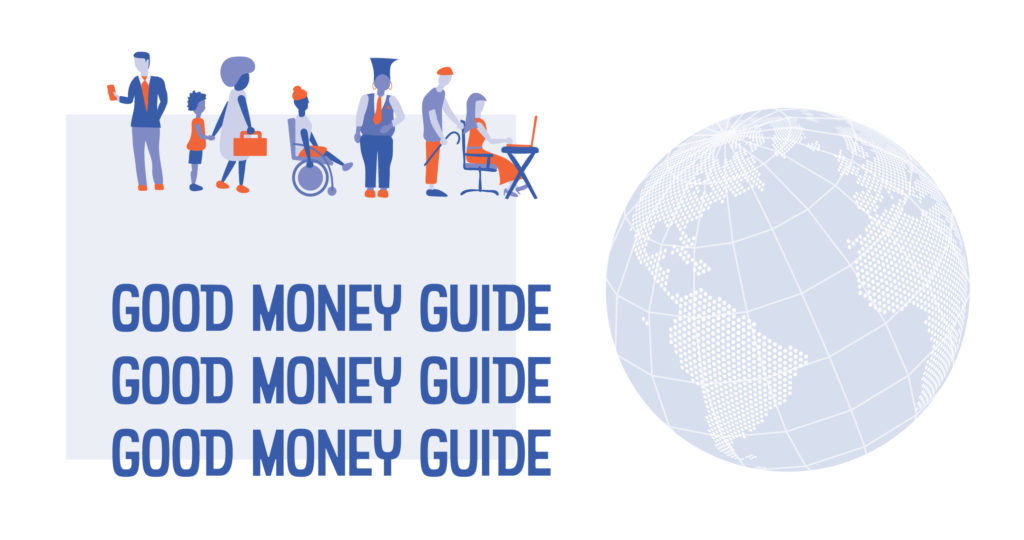 good money guide title art with globe