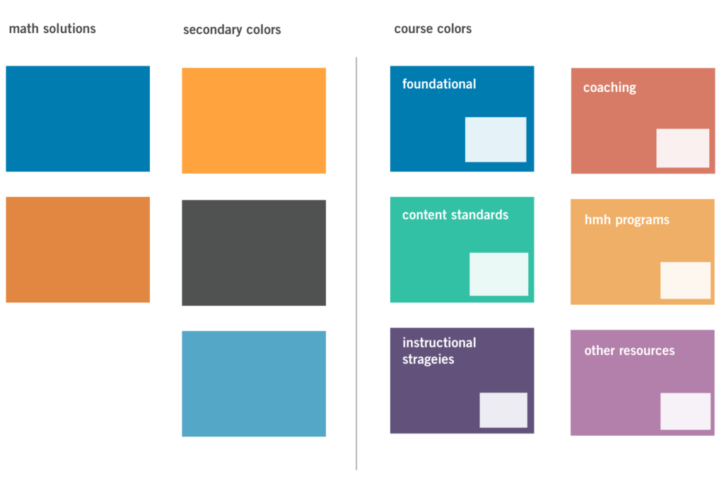 math solutions brand colors and course colors