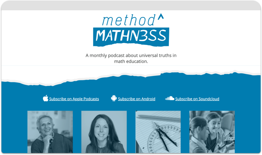 method to the mathness microsite home page in browser window