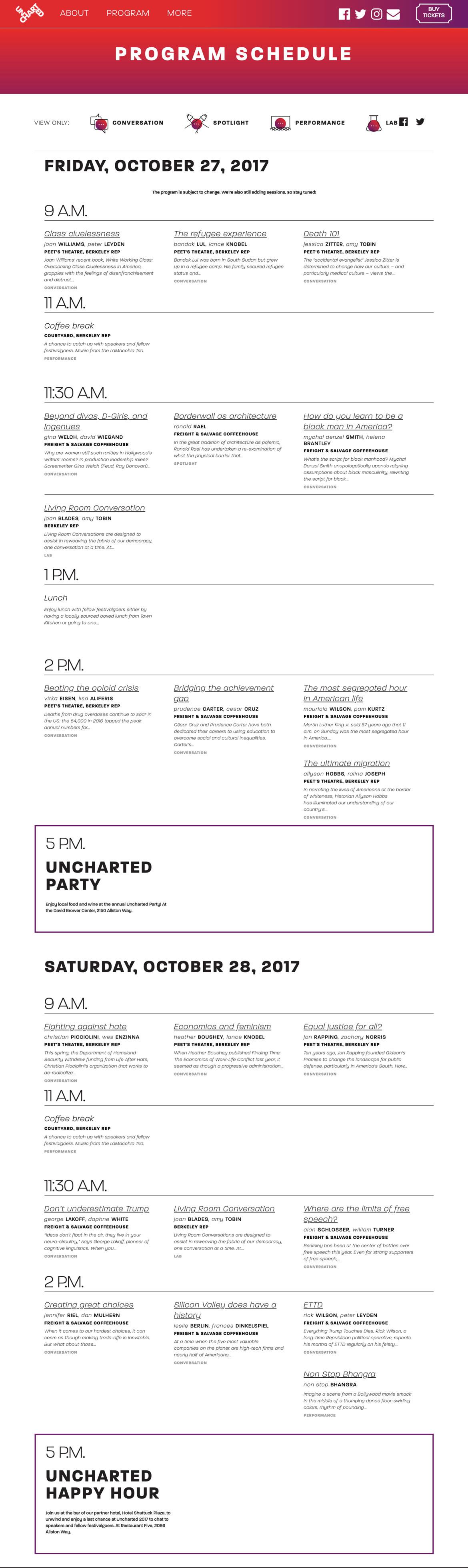 uncharted schedule