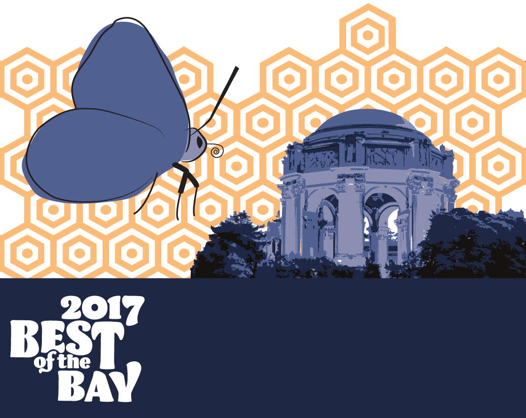 san francisco bay guardian best of the bay 2017 shopping | palace of fine arts and butterfly